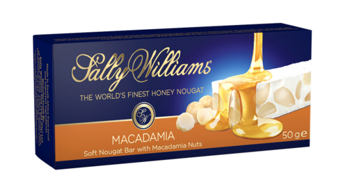 Sally Williams Nougat - Macadamia Bar  50gr