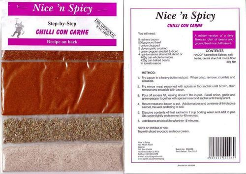 Nice 'n Spicy - Chilli con Carne